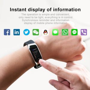 Waterproof Smart Bracelet tracks Heart Rate Monitor
