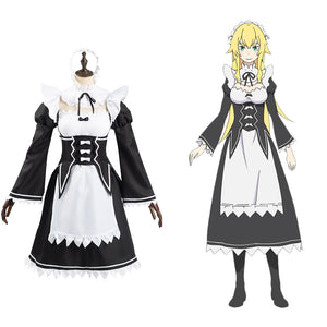 Frederica Baumann Women Dress Outfits Halloween Carnival Suit Re:Life in a different world from zero Cosplay Costume