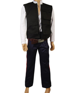 Star Wars ANH A New Hope Han Solo Costume Vest Shirt Pants