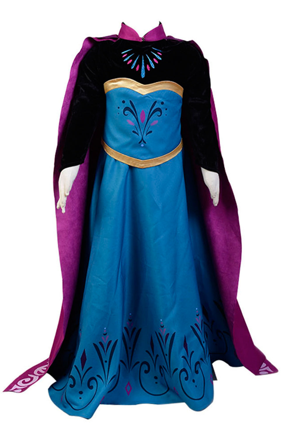 Frozen Elsa Coronation Dress Child Ver Halloween Cosplay Costume