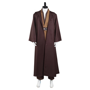 Star Wars Kenobi Jedi TUNIC Cosplay Costume Brown Version