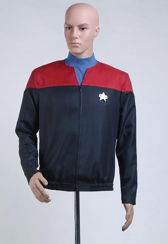 Star Trek Voyager Command Captain Unfiorm Shirt Cosplay Costume