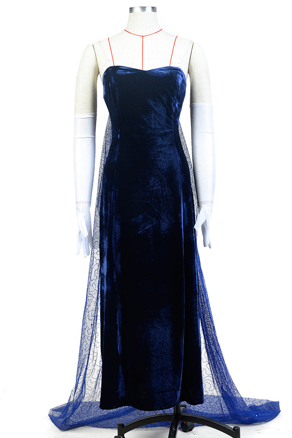 Anastasia (1997 film) Romanov Evening Dress Blue Cosplay Costume