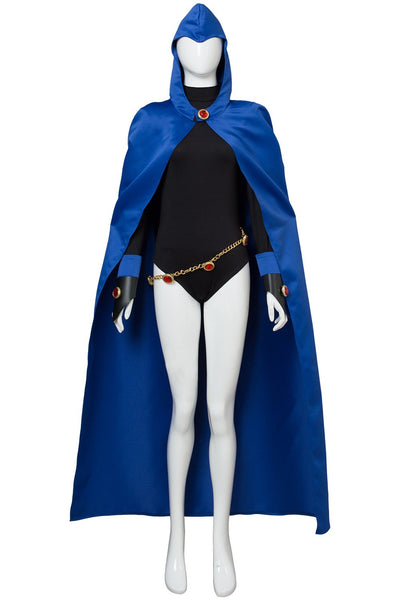 Teen Titans Raven Outfit Cape Cosplay Costume