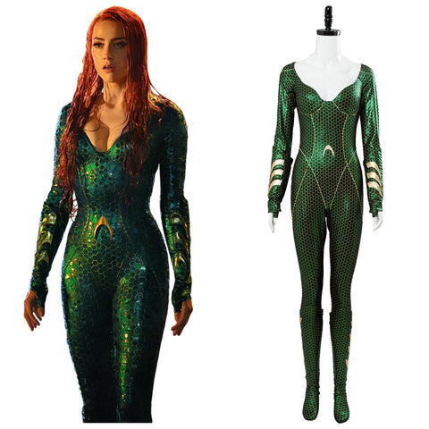 2018 Aquaman Mera Jumpsuit Outfit Cosplay Costume