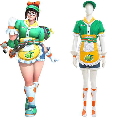 Overwatch Mei Honeydew Skin Cosplay Costume