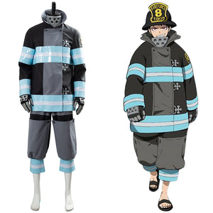 Shinra Kusakabe Firefighter Enen no Shouboutai Fire Force Outfit Cosplay Costume
