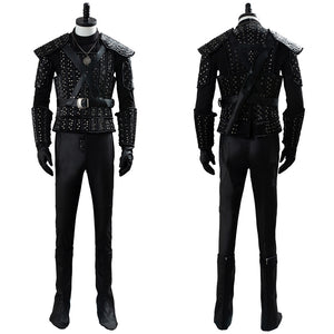 The Witcher Cavill Geralt Outfit TV Show Costume Cosplay Costume