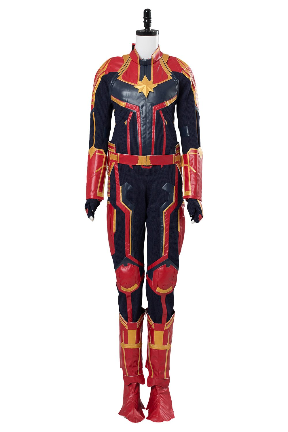 Avengers 4 Captain Marvel Carol Danvers Jumpsuit Outfit Female Super Hero Costume