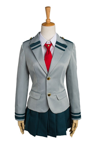 Boku no Hero Academia My Hero Academia Tsuyu Ochaco Uraraka School Uniform Cosplay Costume