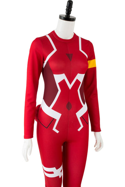 DARLING in the FRANXX DFXX 02 Zero Two Pilot Jumpsuit Cosplay Costume Red