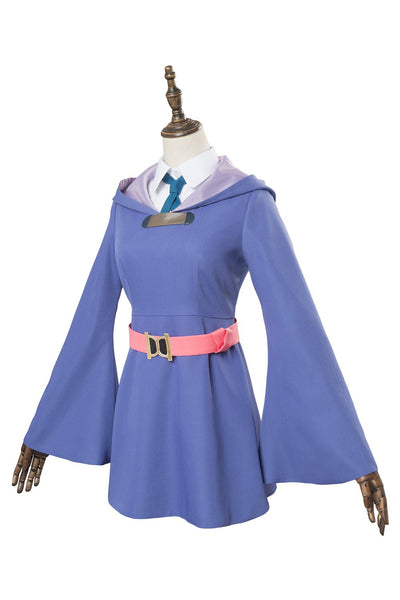 Little Witch Academia Kagari Atsuko Akko cosplay dress purple witch costume