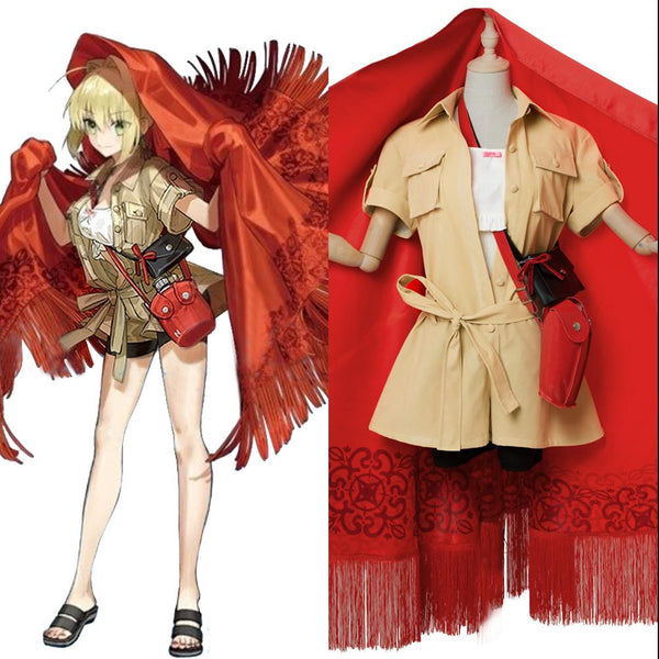 Fate/Grand Order Nero Claudius Red Saber Cosplay Costume Third anniversary Outfit