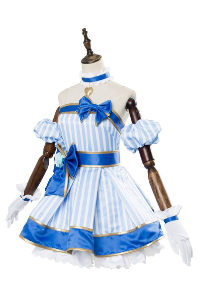A.I.Channel Kizuna AI Cosplay Dress Costume Blue