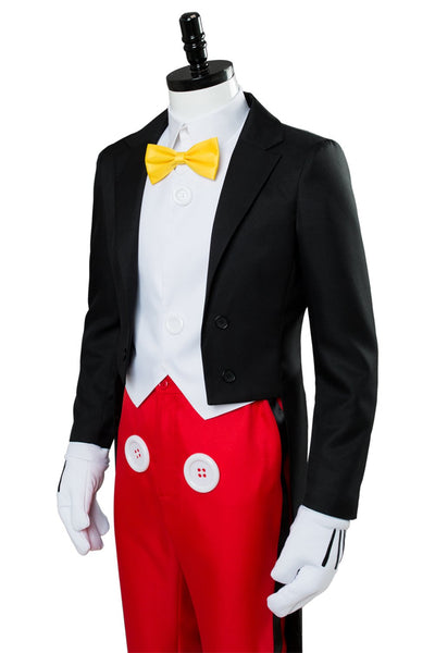 Disney Mickey Mouse Dinner Suit Tuxedo Halloween Cosplay Costume