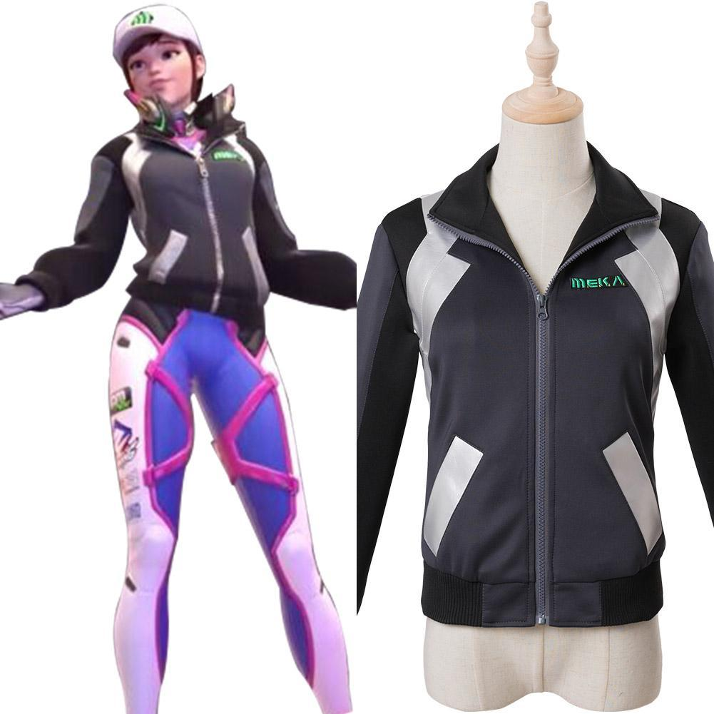 Overwatch D.Va DVA Hana Song Cosplay Costume Shooting Star Outfit