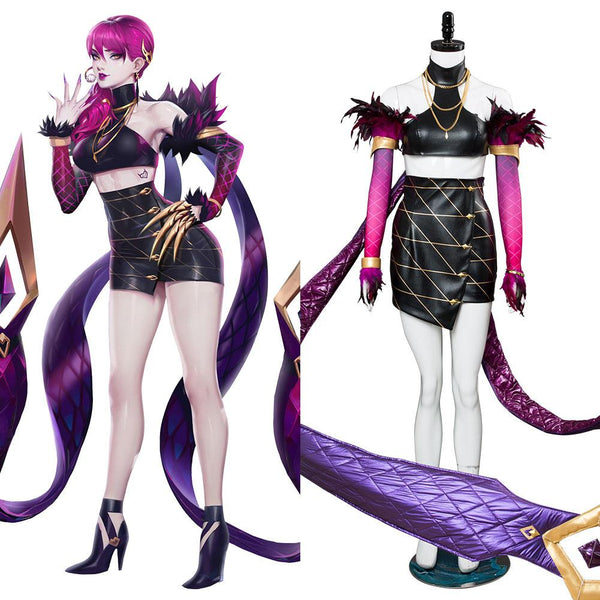 League of Legends Agony's Embrace Evelynn K/DA Skin Cosplay Costume