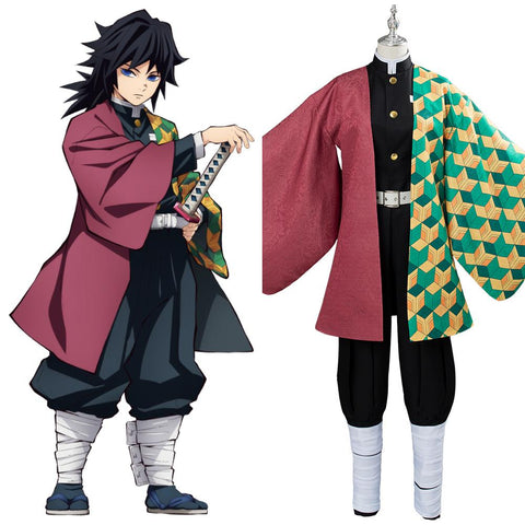 Demon Slayer: Kimetsu no Yaiba Tomioka Giyuu Cosplay Costume