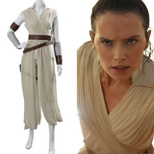 Rey Star Wars:The Rise of Skywalker Cosplay Costume Outfit Dress