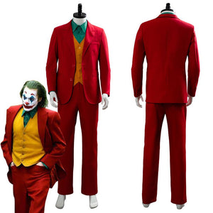Joker Origin Romeo 2019 Film DC Movie Joaquin Phoenix Arthur Fleck Cosplay Costume Outfit Dress Suit Uniform