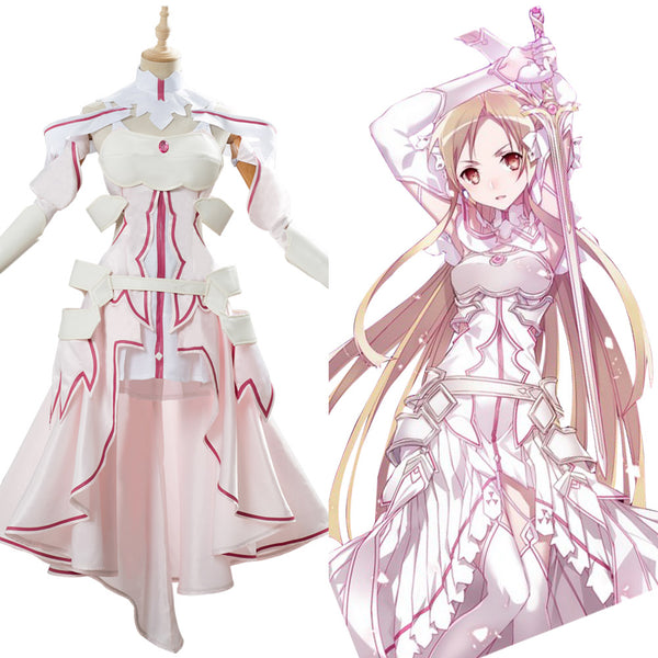 Sword Art Online SAO Alicization Yuuki Asuna Cosplay Costume