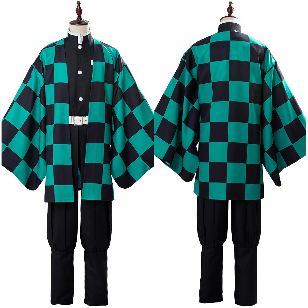 Tanjirou/Tanjiro Kamado Demon Slayer: Kimetsu no Yaiba Suit Cosplay Costume