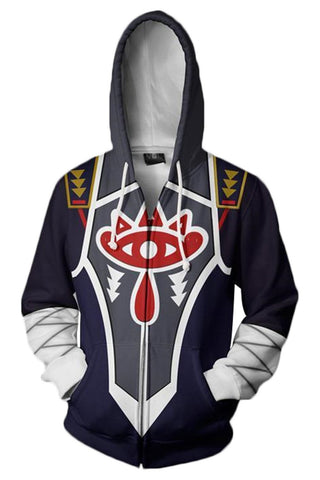 The Legend of Zelda Hoodie A Link Between Worlds 3D Zip Up Sweatshirt Unisex