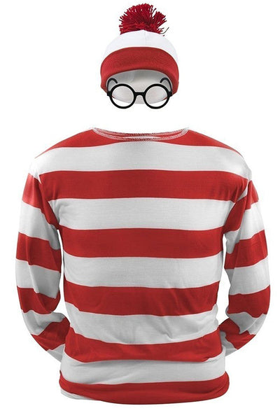 Where's Waldo Waldo  Waldo & Friends T-shirt Cosplay Costume