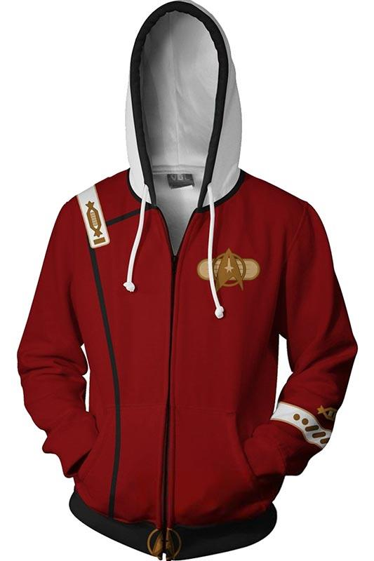 Star Trek II: The Wrath of Khan Hoodie 3D Zip Up Sweatshirt Unisex