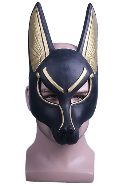 Anubis Mask Egyptian Jackal Dog Full Head Halloween PVC Helmet Adults