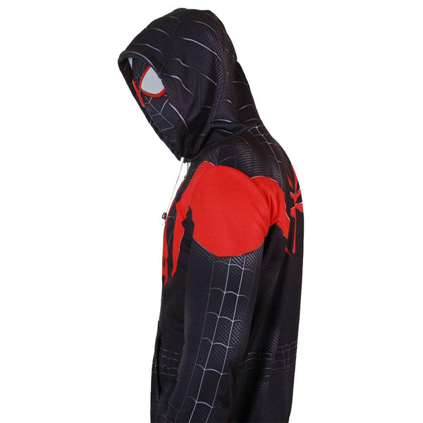 Spider-Man: Into the Spider-Verse Halloween Cosplay Costume Hoodie Jacket For Kids