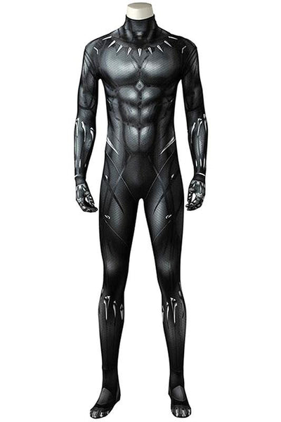 Avengers 3 : Infinity War Black Panther T'Challa outfit jumpsuit 3D Printed Cosplay Costume