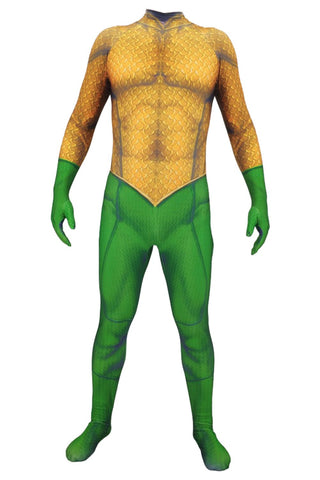 Aquaman Arthur Curry Jumpsuit Outfit Cosplay Costume