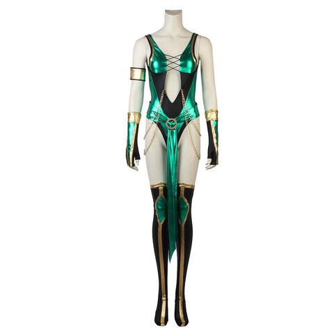 Video Game Mortal Kombat X Jade Cosplay Costume Female