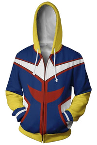 My Hero Academia Hoodie Boku no Hero Academia All Might Sweatshirt Jacket Cosplay Costume