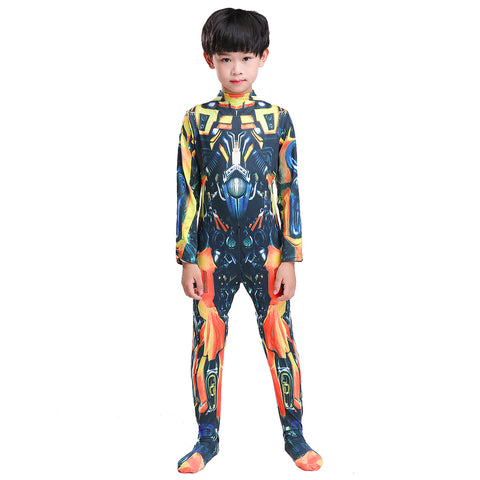 Transformers Optimus Prime Bumblebee Jumpsuit Cosplay Costume For Kid