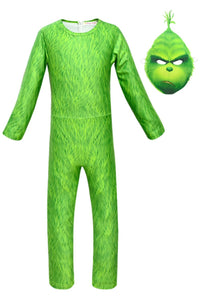 Kids Cosplay Costume How the Grinch Stole Christmas Outfit Party Suit