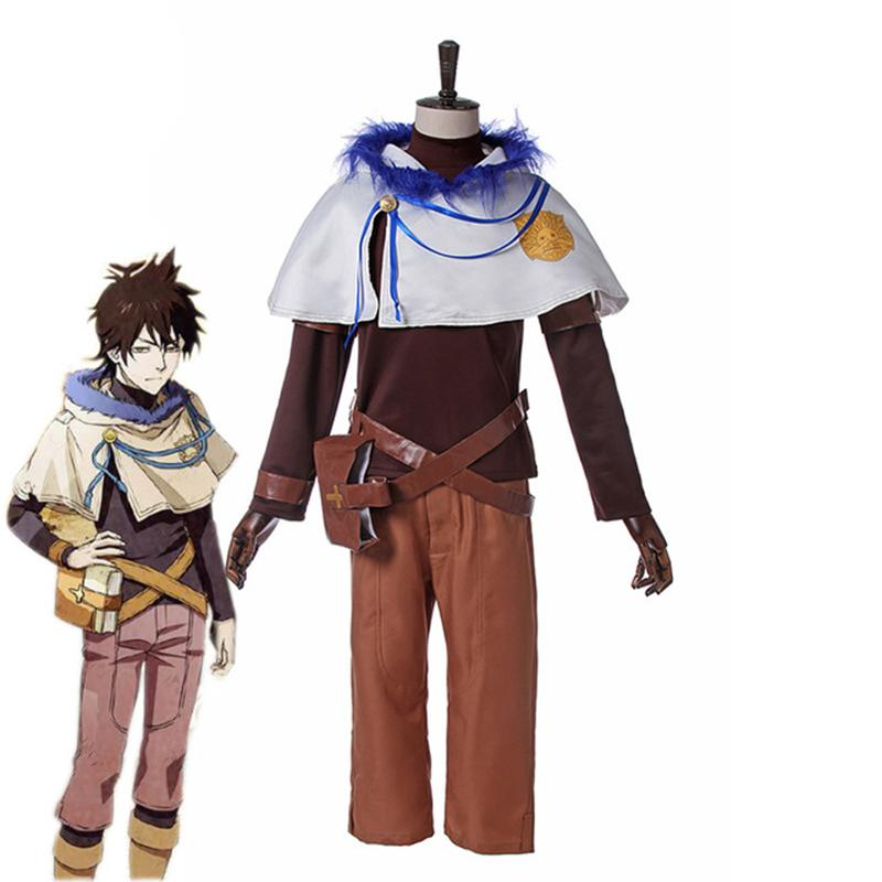 Anime Black Clover Yuno Quartet Knights Outfit Cosplay Costume