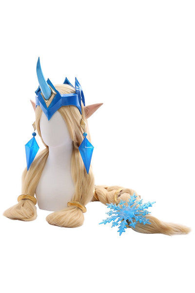 League of Legends Soraka Snowdown Skin Outfit Cosplay Costume Female