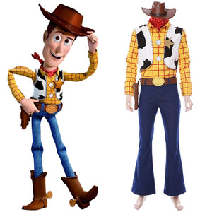 Toy Story 4 Woody Cowboy Outfit Cosplay Costume Adults