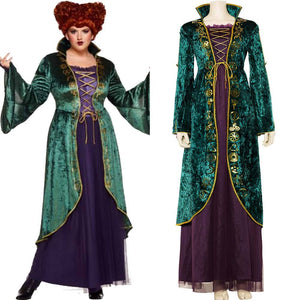 Hocus Pocus Winifred Sanderson Cosplay Costume Outfit Dress Suit Uniform
