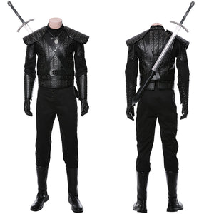 The Witcher Cavill Geralt of Rivia Movie Outfit Cosplay Costume