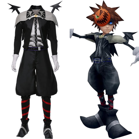 Kingdom Hearts Skin Sora Halloween Vampire Suit Cosplay Costume