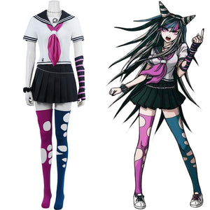 Ibuki Mioda School Uniform Dress Outfits Halloween Carnival Suit Super Danganronpa 2 Cosplay Costume
