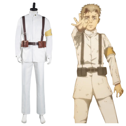 Marley Eldian Army White Uniform Outfits Halloween Carnival Suit Shingeki no Kyojin Attack on Titan S4 Cosplay Costume