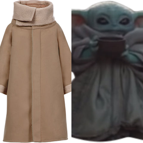 The Mandalorian Star Wars Baby Yoda Fleece Lined Coat Cosplay Costume