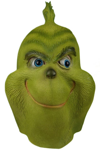 How the Grinch Stole Christmas Grinch Mask Full Face Halloween Cosplay Mask Latex Adult