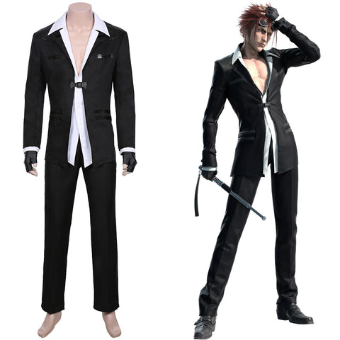 Reno Men Jacket Pants Outfit Final Fantasy VII Remake Cosplay Costume Halloween Carnival Costume