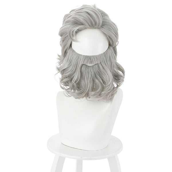 Santa Claus The Christmas Chronicles 2 Cosplay Wig Heat Resistant Synthetic Hair Carnival Halloween Party Props