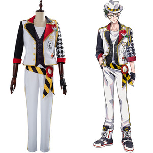 Game Twisted-Wonderland Alice in Wonderland Cosplay Costume Theme Trey